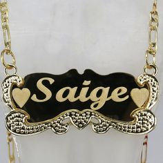 18K Solid Gold Plated Personalized Name Necklace Any Name made in New York