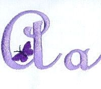 Butterfly Alphabet - 4x4 | Alphabets | Machine Embroidery Designs | SWAKembroidery.com