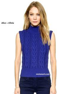 Вязание спицами летней кофточки для женщин от Alice + Olivia