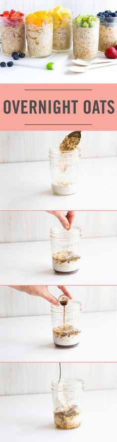 Is there a better way to start the day than with Overnight Oats in a jar? With flavors like cake batter,  strawberry shortcake, and blueberry muffin, you need to try these healthy breakfasts. Nothing beats a mason jar recipe!