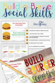 Looking for something to engage your social skill groups? Try making some crazy, gross, or tasty burgers as they practice those tough to tactile pragmatics! #SLP #speech #therapy #ideas #Social #ASD #communication #language