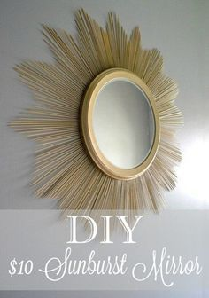 DIY sunburst mirror -- are you kidding me?! This is so easy and awesome looking!