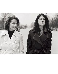 Charlotte Rampling & Charlotte Gainsbourg  - Burberry Fashion