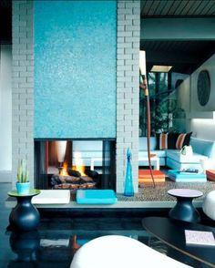 Mid century modern living space