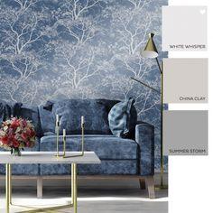 Reiki Tree's Glitter Wallpaper Dark Blue
