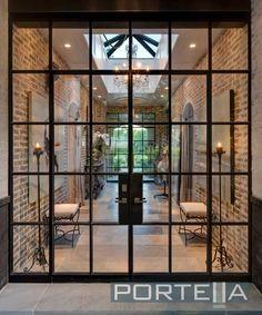 Steel & glass doors for a sleek, minimal framework look...