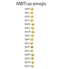Mbti as emojis. I gotta say that my emoji perfectly describes me. #enfp