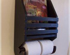 Revistero primitivo papel higiénico titular granja almacenamiento por Sawdusty / Color a elección