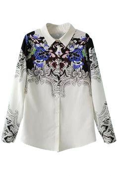 2015 Valentine Sale Retro Floral Button Down Shirt  2015 Valentine Sale + FREE SHIPPING WORLDWIDE