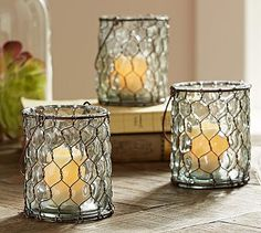 Wire Votive Candle Holder #potterybarn