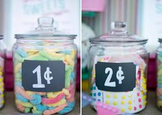 Candy Table - this would be a cute lesson for FHE on budgeting with play money