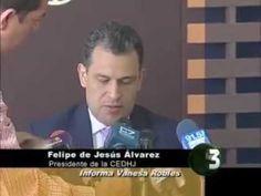 """El Secretario de Seguridad Pública de Jalisco, Luis Carlos Nájera, recibió la recomendación """"13"""" de 2012, de la Comisión Estatal de Derechos Humanos (CEDH), por la actuación de seis policías estatales, qué golpearon de manera atroz y presentaron ante la prensa a un instructor de la academia de policías de Puerto Vallarta, cuándo éste denunció, qué los gendarmes torturaban aun hombre.    Informe Vanesa Robles"""