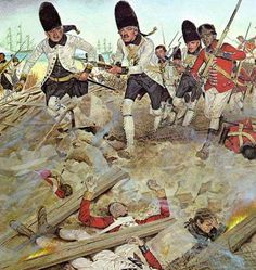 Gulf Coast campaign Spanish troops storm the British positions at the Siege of Pensacola (1781)