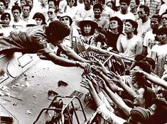 """On this day 25 February 1986 the US-backed anti-communist dictator of the Philippines Ferdinand Marcos was toppled and forced to flee the country by mass protests in the """"people power revolution"""". Philippines People, Philippines Culture, People Power Revolution, World Conflicts, Cultural Studies, Power To The People, Working Class, Photo Essay, Ferdinand"""