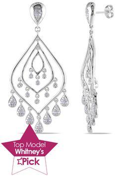 Love these!!!   Eclipse .33 Ct Diamond Chandelier Earrings