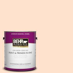 BEHR Premium Plus 1-gal. #P200-1 Melted Marshmallow Eggshell Enamel Interior Paint