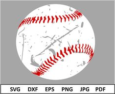 Baseball Svg file for Cricut Distressed Baseball Svg Baseball