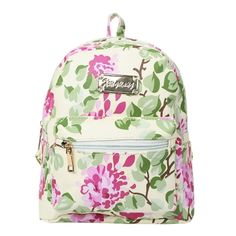 14.41$  Buy here - http://aiavt.worlditems.win/all/product.php?id=B0435GR - Fashion Women Floral Backpack Print Zip Top Functional Pockets Students School Travel Bag Blue/Black/Green