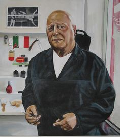 """This is a painting of Orlando, my barber. Painted in acrylic on canvas in May/June 2007."" By Gary Jones."