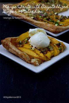 Mango & Tomato: Mango Tart with Crystallized Ginger & Pistachios: Mango & Tomato Turns 5!!!