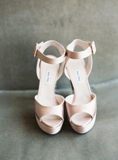 Blush Miu Miu platform heels: http://www.stylemepretty.com/vault/gallery/38475 | Photography: Judy Pak - http://judypak.com/