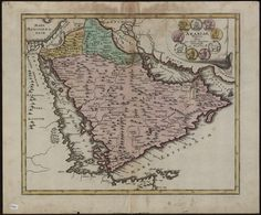 A map of the Arabian peninsula made in 1720 / by the German publisher Christoph Weigel