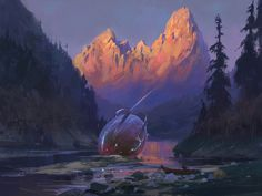 ArtStation - in the mountains, Nicholas Litvinenko