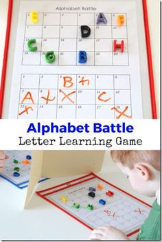 FREE Alphabet Battle - such a fun alphabet game that will help preschool, kindergarten, and 1st grade kid learn their letters!