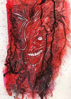 joker sketch, tecnica mista su cartoncino 300 grammi, formato A4. in vendita