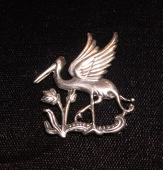 FIGURAL STERLING SILVER CORO BIRD BROOCH PIN VINTAGE