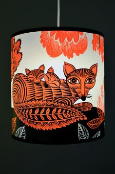 Red Fox and Cubs lampshade by Lush Designs - Radiance