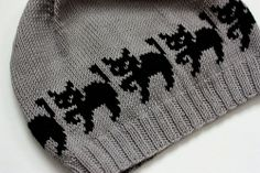 Witch cats hat by Christine de Savoie free pattern (several versions) on Ravelry at http://www.ravelry.com/patterns/library/witch-cats-hat