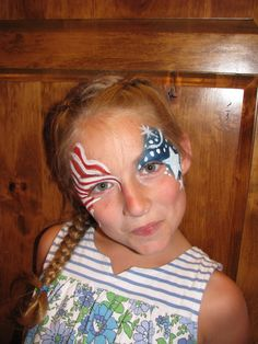 patriotic facepainting