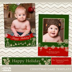 digital backdrop christmas card collage template by