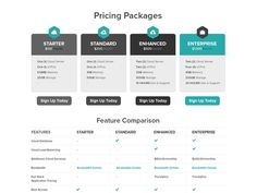 Pricing Packages designed by Ben Fryc. Free Web Design, Grid Design, Graphic Design, Logo Design, Web Design Quotes, Web Design Packages, Typography Layout, Chart Design, Web Design Company