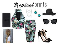 """""""Tropical Print"""" by mayraflores534 ❤ liked on Polyvore featuring New Look, STELLA McCARTNEY, Quay, Liz Palacios, Yves Saint Laurent, tropicalprints and hottropics"""