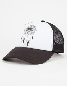 O neill Catchin Dreams Womens Trucker Hat Black White One Size For Women  26547912501 b3cb3aed64cd