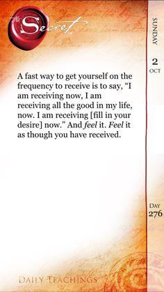 I Am Receiving…