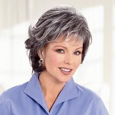 Thinking this may be a good look to take me over the bridge into gray hair.  It's costing me so much $$ now to keep dying it.  Would just make more sense to let it grow out...this could be an easy way to start it in that direction.