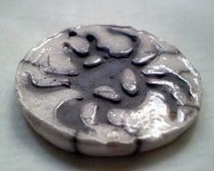 OOAK Spider Bead Raku Porcelain Clay Focal by spinningstarstudio, $4.00