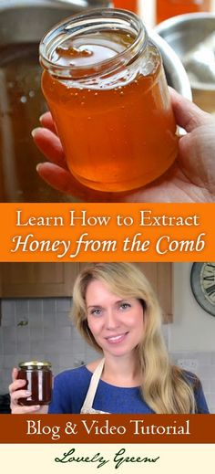 Have you ever wondered how raw honey is harvested from the honeycomb? Tanya from Lovely Greens shows you how!