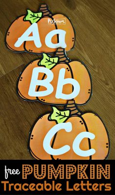 FREE Pumpkin Traceable Letters - fun way to help preschool, prek, and kindergarten age kids practice tracing upper and lowercase letters Pre K Activities, Alphabet Activities, Autumn Activities, Fall Preschool, Preschool Classroom, Preschool Activities, Preschool Learning, Educational Activities, Classroom Ideas