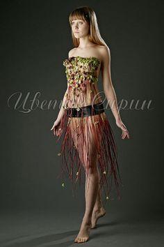 Цветочные платья от Анны Чайковской.