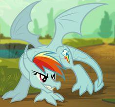 how to draw dragon rainbow dash