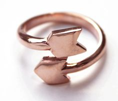 Cupids Arrow Ring in Rose Gold