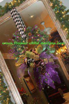 Nice wreath. Like the way it is hanging in the doorway.