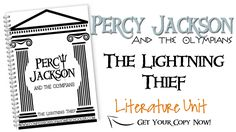 Percy Jackson: The Lightning Thief literature unit. Comes with chapter by chapter teacher's manual, student notebooking worksheets, comprehension questions, reports, prediction worksheets, vocabulary, and book vs. movie reports.