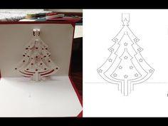 Snowman and Christmas Tree Pop Up Card, Kirigami Tutorial - YouTube