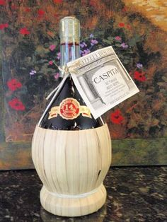 another great wine in straw basket