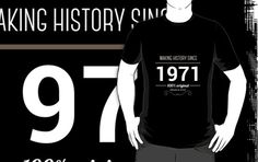 Making history since 1971 by JJFarquitectos, if you need another year just tell me! #tshirt #tees #design #designer #vintage #retro